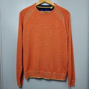 Robert Graham Orange Wool Crew Neck Sweater